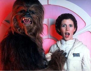Şekil 3. Chewbacca'nın minoksidili fitil olarak aldığı gibi bel altı espriler yapmayacağız, ama bu resim testosteron miktarı açısından açıklayıcı olabilir, kınıyoruz.